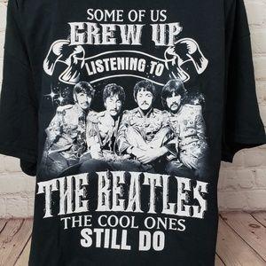 Beatles Lover Graphic T-Shirt Mens XL Black Top